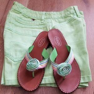 Talbots ~ Multi Colored Striped Sandals